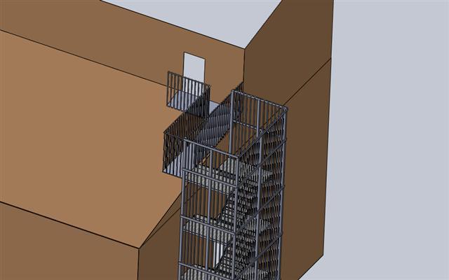 Yangın Merdiveni Projesi